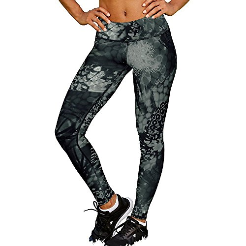 Champion Baumwoll-strumpfhose (Champion Women's SmoothTec Workout Legging, Black Wingspan, X-Small)