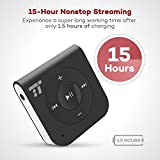 Bluetooth Receiver, Car Kits (15 Hour Streaming, Hands-free Calling, Bluetooth 4.1, A2DP, CVC Noise Cancelling) TaoTronics Portable Wireless Audio Adapter 3.5 mm Stereo Output [Latest Version]