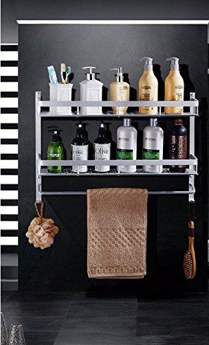 mmhy Badezimmer Regal Raum Aluminium Badezimmer Eckregal Badregal Wand montiert WC-Block Wand Handtuchhalter 60cm, Bright Your Life (Nautical Bath Handtuch-haken)