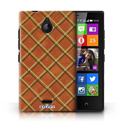 Kobalt® Imprimé Etui / Coque pour Nokia X2 Dual Sim / Vert/Bleu conception / Série Motif Entrecroisé Orange