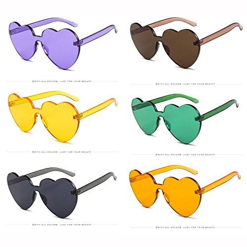 Yiph-Sunglass Sonnenbrillen Mode Neon Farben Herzform Party Favors Sonnenbrille, Elegante Glassess Fall Zubehör (Color : NO.10)