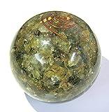 Hervorragende 193Gramm Labradorit Orgonite 62mm Kugel crystal Healing Reiki Feng Shui positive Energie Geschenk Meditation metaphysisch Edelstein Spirituelle Weisheit Vaastu Power