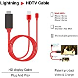 Tobo Lightning To HDMI Adapter Cable 2m IPhone To HDMI Connector 1080P HDTV Cable