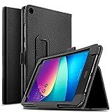 IVSO Asus Zenpad Z8s Case Leather Stand Cover Case for Asus Zenpad Z8s ZT582KL Tablet (Black)