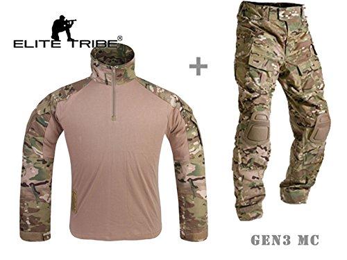 Mensche Militär Kleidung Paintball Kriegsspiel Kampf Gen3 Taktisch Uniform Hemd Hose Kniepolster Multicam MC (M)
