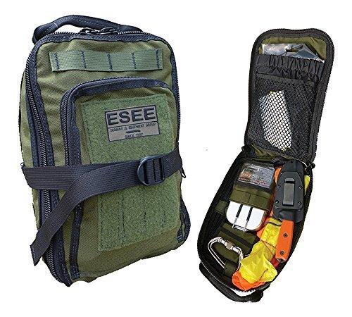 ESEE - Advanced Survival Kit - OD Bag & Map Case w/ Survival Contents by ESEE - Survival Kit Case