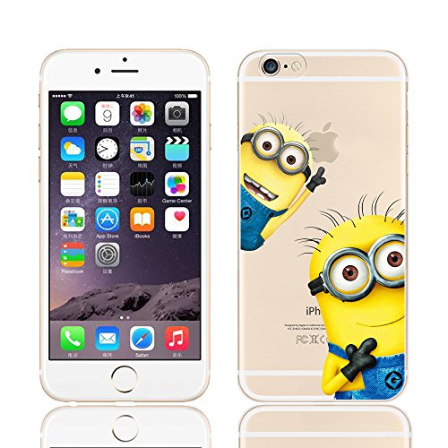MINIONS TRANSPARENT CLEAR TPU SOFT CASE FOR APPLE IPHONE 7 PLUS KEVIN 2 MINIONS
