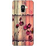 MADANYU Color Wood Floral Being Floral Designer Printed Hard Back Shell Case For Samsung A8 Plus
