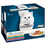 Purina Gourmet Perle húmedo Cat Food, Mini Filetes en salsa, Chef's Collection, paquete de 48 bolsas