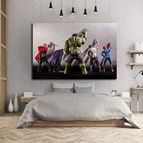 Geiqianjiumai Leinwand Held Filmbilder Charaktere Plakate und Drucke Wandbilder Wohnzimmer rahmenlose Malerei 45x75cm