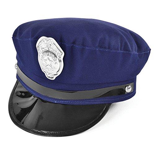 Bristol Novelty bh147New York Police Hat, One Size (Officer Police Kostüm Frau)
