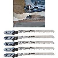 jiamins cuchillas de sierra de calar (HCS t-shank neceseres de herramientas de corte curvas T101AO, lote de 5