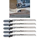 Jiamins Stichsägeblätter aus HCS T-Shank gebogene Schneidwerkzeuge, T101AO, 5 Stück