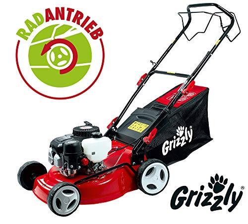 Grizzly Benzin Rasenmäher BRM 4210-20 A 1,6 kW 2,1 PS 42 cm Schnittbreite 5 Fach Höhenverstellung + Radantrieb