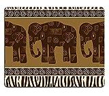 Naturkautschuk-Gaming-Mousepad Nahtlose Muster mit Elefanten und Zebra-Haut (Mauspad/Gaming-Mauspad)