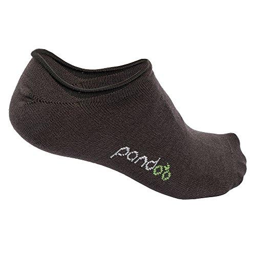 pandoo 6er Packung Bambus Füßlinge Unisex Socken - Perfekt für Sport & Freizeit - Atmungsaktiv, Anti-Schweiß, Komfortbund ohne Gummi, Geruchshemmend & Antibakteriell- (Grau, 39/42)