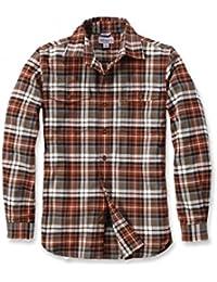 Carhartt .102332.235.s007RO Slim Fit Flanell Hemd, Farbe: Hellbraun, Größe: X-Large