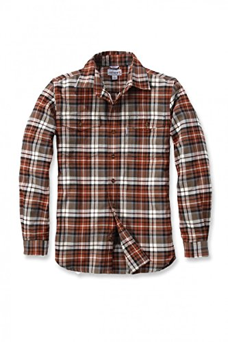 Carhartt .102332.235.s007RO Slim Fit Flanell Hemd, Farbe: Hellbraun, Größe: X-Large (Oxford Manschette)