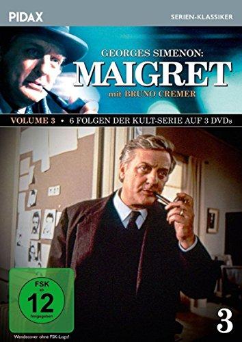 Bild von Maigret, Vol. 3 / Weitere 6 Folgen der Kult-Serie mit Bruno Cremer nach dem Romanen von Georges Simenon (Pidax Serien-Klassiker) [3 DVDs]
