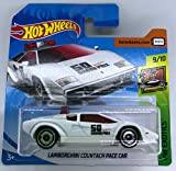 Hot Wheels 2018 Lamborghini Countach Pace Car White 9/10 HW Exotics...