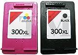 Office Supplies Best Deals - Remanufacturados HP 300X L negro y color Cartuchos de tinta Combo para Deskjet D1600, D1660, D1663, D2500, D2530, D2545, D2560, D2563, D2566, D2600D2645, D2660, D2663D2666D2668, D2680, D5560, D5563, D5668, impresoras