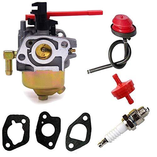 jjdd replacement carburetor carb gasket fuel filter primer bulb for troy  bilt mtd craftsman snow blower