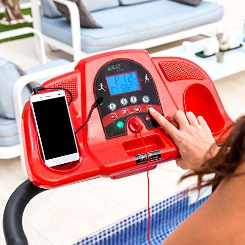 RunFit Step. Laufband mit Lautsprechern u. Magnet-Sicherheitssystem - rot Abbildung 3