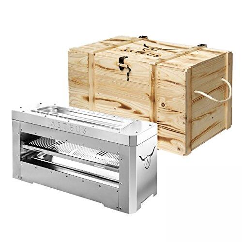 Preisvergleich Produktbild Asteus KS0359 ASTEUS Family Elektro-Infrarotgrill mit Holztruhe
