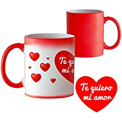 Taza termosensible y mágica – Estándar – Taza mágica que cambia de color – Taza de café original – Regalo romántico de cumpleaños