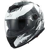 Astone Helmets gt800-spider-wbm Casco Moto Integrale GT 800, Bianco/Nero, Taglia M