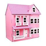 LINAG Kinder Modelle Stichsäge Manuelle Montage Täuschen Sie Vor Spielen Spielzeug Haus Häuser Holz Geburtstagsgeschenk DIY Minipuppen Modepuppen Zubehör Puzzle Toy-8735