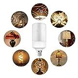 HLL LED Flamme E27 Basis Feuer-Effekt Birne Lampe Garten Riegel Party Startseite Hochzeit Festival Weihnachtsdekoration Lampe (2Pack) 4.2X11.8CM/4.65X1.65In Vergleich