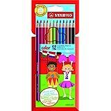 Crayon de coloriage - STABILO color - Étui carton de 12 crayons de couleur