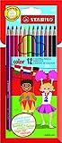 Matita colorata - STABILO color - Astuccio da 12 - Colori assortiti