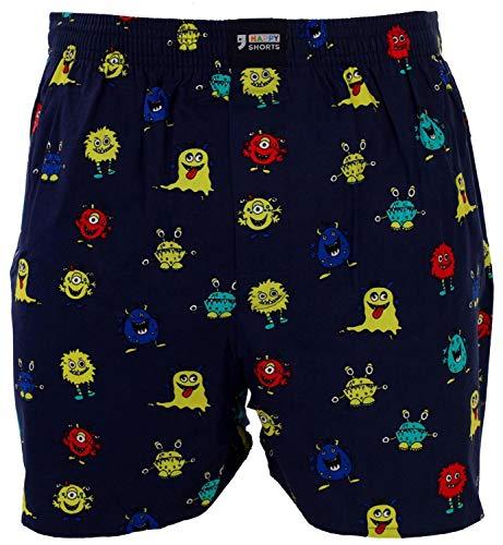 Happy Shorts Webboxer Herren Boxer Motiv Boxershorts Farbwahl, Grösse:XL - 7-54, Präzise Farbe:Design 5