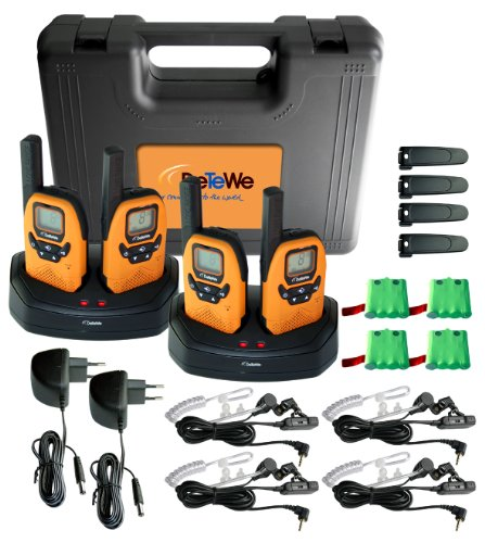DeTeWe PMR Outdoor 8000 Quad Funkgerät 4-er Set (Talkie Walkie Wetter-radio)
