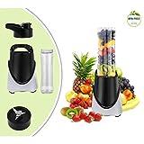 Leogreen - Licuadora con Copa Bebida 570 ML - Color Negro - 300 vatios - Diseño para verduras y frutas