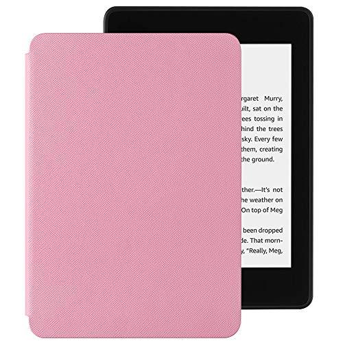 EasyAcc Hülle für Kindle Paperwhite 2018 10. Generation, Ultra Dünn Smartshell Case mit Auto Sleep/Wake up Funktion Kompatibel für Modelle der Kindle Paperwhite (10. Generation – 2018) - Rosa