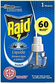 Raid Liquido Elettrico con Diffusore Efficace Contro Zanzare Tigre e Zanzare Comuni, 60 Notti, 36ml