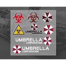 Paraguas Corporation Resident Evil juego de pegatinas de coche