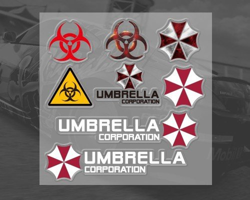 umbrella-corporation-biohazard-resident-evil-voiture-stickers-autocollants-ensemble