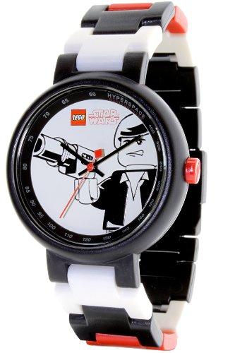LEGO Star Wars Han Solo - Reloj Unisex de Cuarzo, Correa de plástico Color