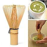 UEETEK Chasen de 115 mm x 63 mm té Matcha bambú bate para preparar