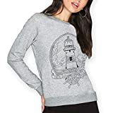 VIENTO Lighthouse Damen Sweatshirt (Grau, S)