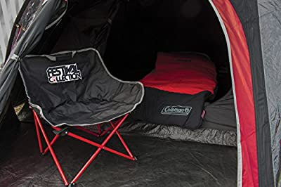 Coleman Camping Chair Festival Kickback, super compact and lightweight folding chair, sturdy steel frame, portable camp chair with cup holder, use for festivals, fishing, beach and garden, black-red by Coleman