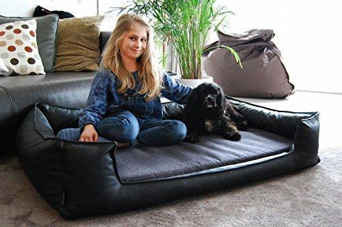 Tierlando nonplusultra linus ortopedici letto cane visco plus materasso similpelle poliestere con moderno handwebcharakter catturasguardi tgl l 100 cm nero antracite