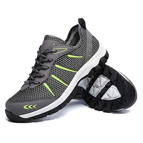 Uomo Scarpe da Ginnastica Sportive Sneakers Estive Mesh Casual Trekking Running Basse da Fitness all'Aperto Grigio EU40=CN41