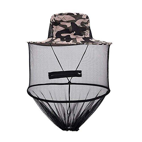 Snow Island Camouflage Imker Hat für Bee Schutz Mückenschutz, Outdoor Kopf Schutz...