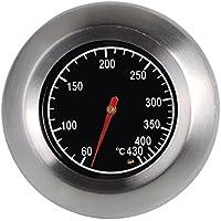 PIXNOR 7.6 cm acero inoxidable al aire libre barbacoa horno termómetro