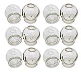 Schröpfgläser aus Glas | Feuer Schröpfen | 6er Set | verschiedene Größen (ca. 4,5cm Ø)